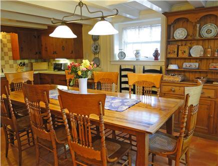 Nantucket town Nantucket vacation rental - Spacious Dining area adjacent to modern kitchen