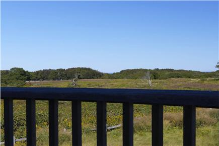Quidnet Nantucket vacation rental - Deck overlooking conservation land