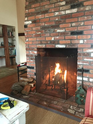 Polpis, Nantucket Nantucket vacation rental - Living Room Fireplace