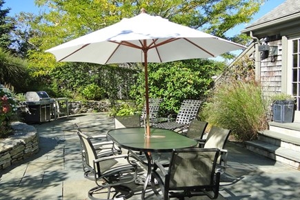 Nantucket town Nantucket vacation rental - Private Back patio with table, lounges and grill