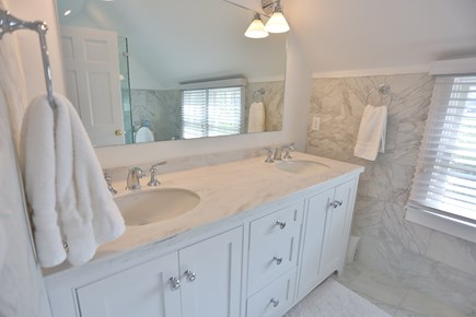 Brant Point Nantucket vacation rental - New master bathroom with double sinks and shower