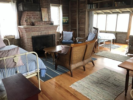 Madequecham Nantucket vacation rental - View from main room out to 3 sided enclosed porch.