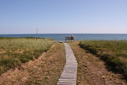 Madequecham Nantucket vacation rental - Path to beach steps from house.
