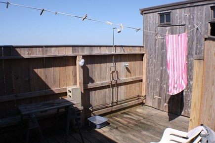 Madequecham Nantucket vacation rental - Enclosed courtyard/outdoor shower.