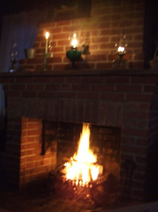 Madequecham Nantucket vacation rental - Small fireplace.