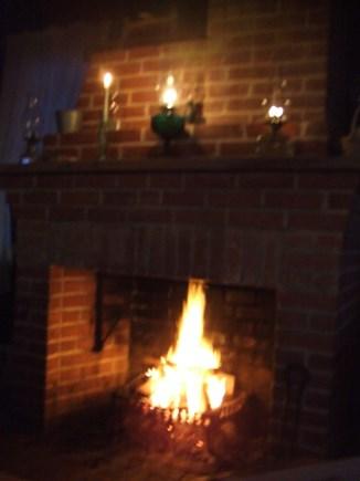Madequecham Nantucket vacation rental - Small fireplace.