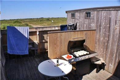 Madequecham Nantucket vacation rental - Private ''courtyard'' with shower and new grill.
