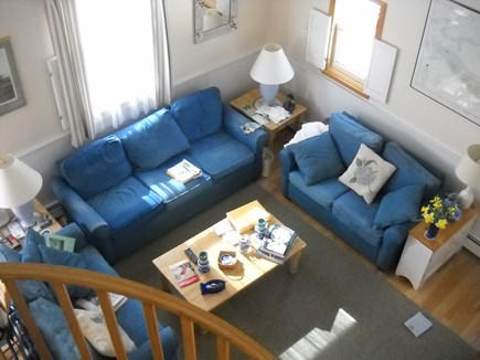 Nantucket town Nantucket vacation rental - Living Room from above.