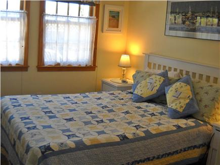 Nantucket town Nantucket vacation rental - Master bedroom-queen, facing backyard and gardens.