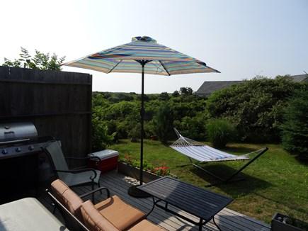 Surfside Nantucket Nantucket vacation rental - Back Deck with grill, umbrella, hammock