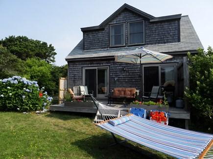 Surfside Nantucket Nantucket vacation rental - Back deck, hammock, umbrella
