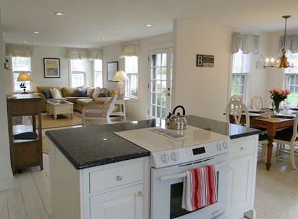 Mid-island, Naushop Nantucket vacation rental - Open living space – family room opens to patio