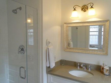 Mid-island, Naushop Nantucket vacation rental - Master bathroom with walk-in shower
