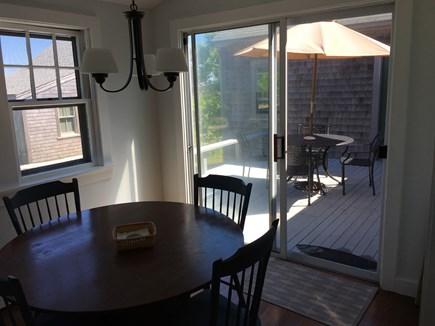 Madaket Nantucket vacation rental - Kitchen to deck