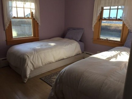 Madaket Nantucket vacation rental - Charming twin bedroom with view of creek and harbor