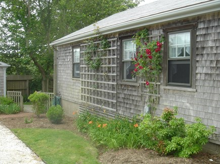 Madaket Nantucket vacation rental - Driveway and garage side of 8M...