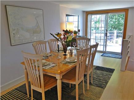 Madaket Nantucket vacation rental - Elegant dining area with slider to deck