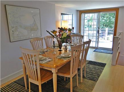 Madaket Nantucket vacation rental - Elegant dining area with slider to deck