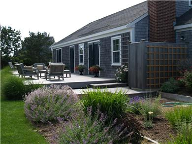 Tom Nevers / 'Sconset Nantucket vacation rental - Sunny deck w/ gardens and large outdoor shower