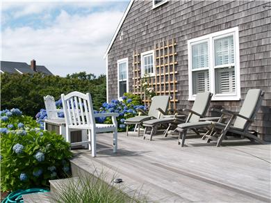 Tom Nevers / 'Sconset Nantucket vacation rental - Comfortable outdoor seating facing the sunset