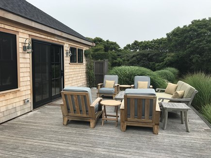 Tom Nevers / 'Sconset Nantucket vacation rental - Large south-facing deck off the living room