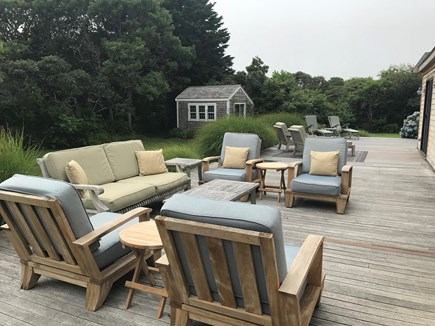 Tom Nevers / 'Sconset Nantucket vacation rental - Large deck with comfortable seating
