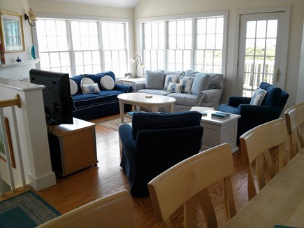 Tom Nevers - Madequecham Nantucket vacation rental - Living room taken from kitchen