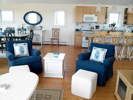 Tom Nevers - Madequecham Nantucket vacation rental - Living room into kitchen