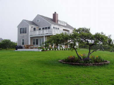 Tom Nevers - Madequecham Nantucket vacation rental - Two decks with beautifully landscaped grounds