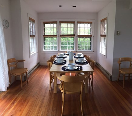 Cisco - Miacomet, Miacomet - Golf/Pond Area Nantucket vacation rental - Dining Room (seats 8) with beautiful view