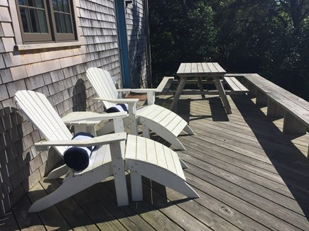 Cisco - Miacomet, Miacomet - Golf/Pond Area Nantucket vacation rental - Sunny private deck overlooks historic Bartlett Farm