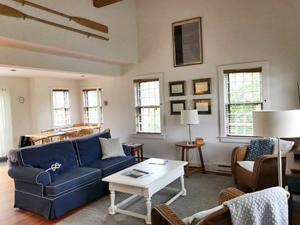 Cisco - Miacomet, Walk to Cisco Brewery, Bartlet Nantucket vacation rental - Spacious Living Room with cathedral ceiling