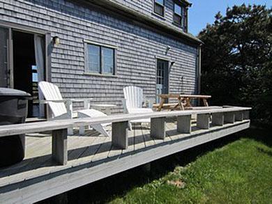 Cisco - Miacomet, Miacomet - Golf/Pond Area Nantucket vacation rental - Sunny  private deck overlooking historic Bartlett farm
