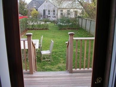 Nantucket Town Nantucket vacation rental - View of back yard  through kitchen door
