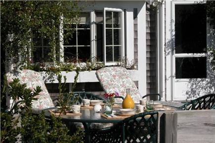 Tom Nevers East Nantucket vacation rental - Back Deck w enclosed shower...hot & cold water!