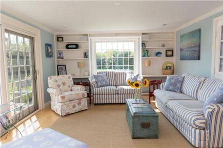 Tom Nevers East Nantucket vacation rental - Living Rm...Sunfilled & overlooks deck, yard, & beautiful gardens