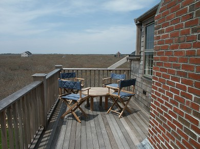 Tom Nevers Nantucket vacation rental - Upper Deck with Teak Furniture - Water Views