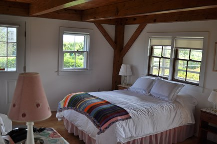 Dionis Nantucket vacation rental - Master BR with open views to west, queen bed, access to 2 decks