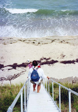 Dionis Nantucket vacation rental - Stairs to Dionis Beach