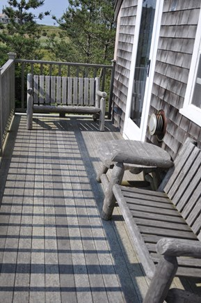 Dionis Nantucket vacation rental - Upper deck for viewing hawks, sunsets, or having tea or a drink.