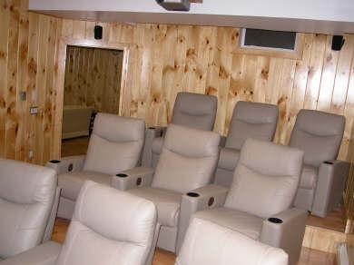 Nantucket town Nantucket vacation rental - Nine Stadium Seat Home Theater
