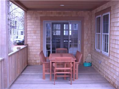 Nantucket town Nantucket vacation rental - Back porch