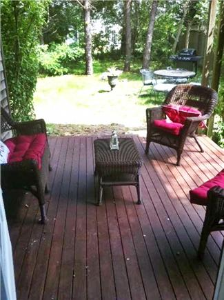 Mid-island, Naushop Nantucket vacation rental - Covered back patio with private yard