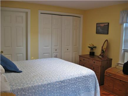 Mid-island, Nashaquisset Nantucket vacation rental - Master Bedroom w/ slider to deck overlooks yard